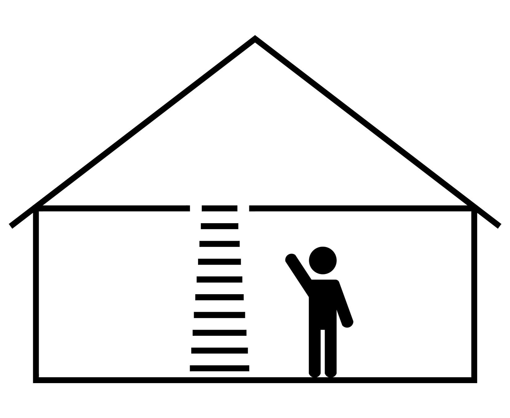 Einziehbare Leiter für den Dachboden