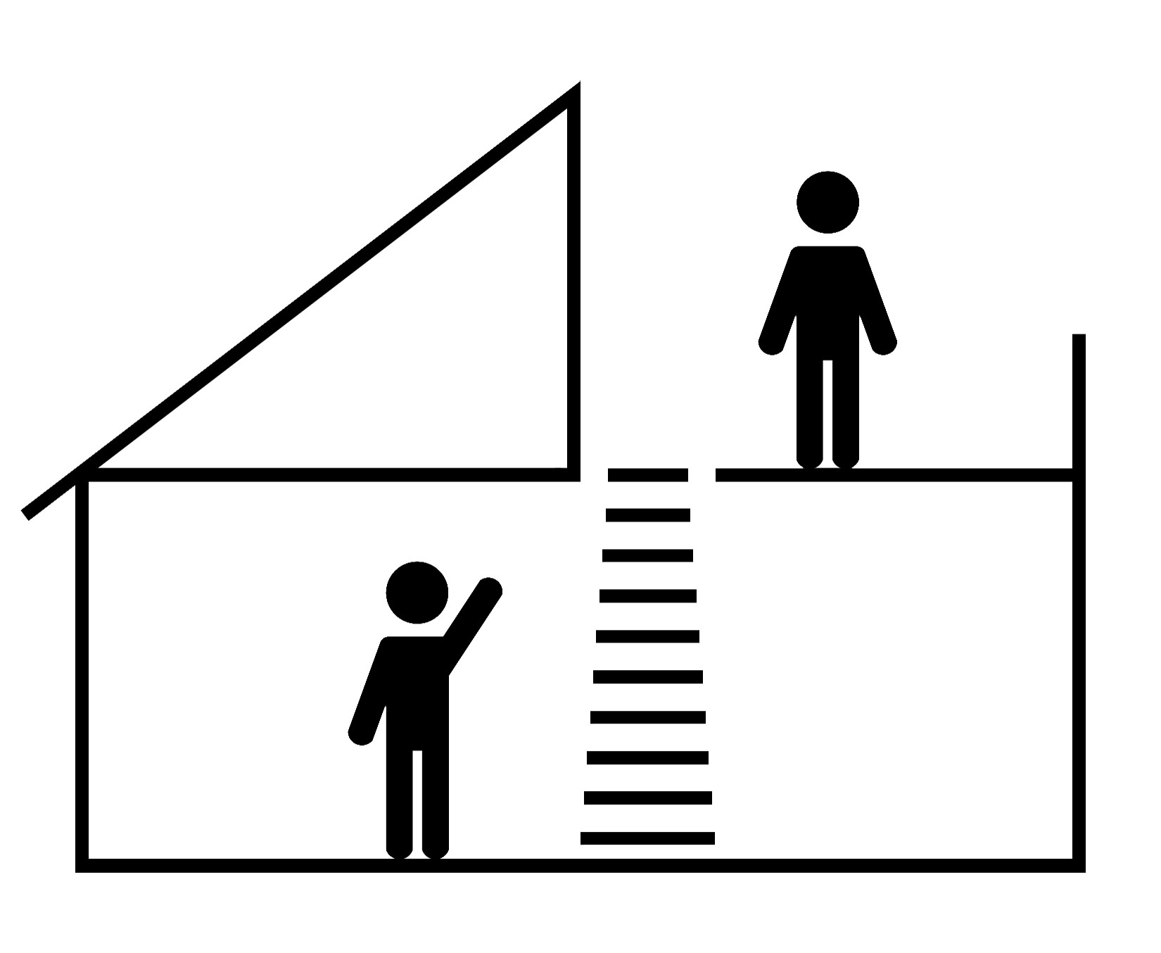 Einziehbare  Treppe für Terrassen