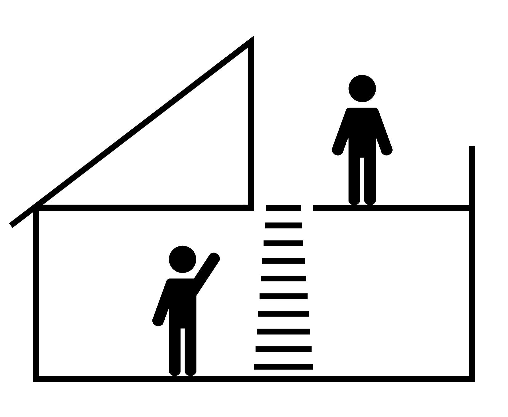 Выдвижная лестница для выхода на крышу
