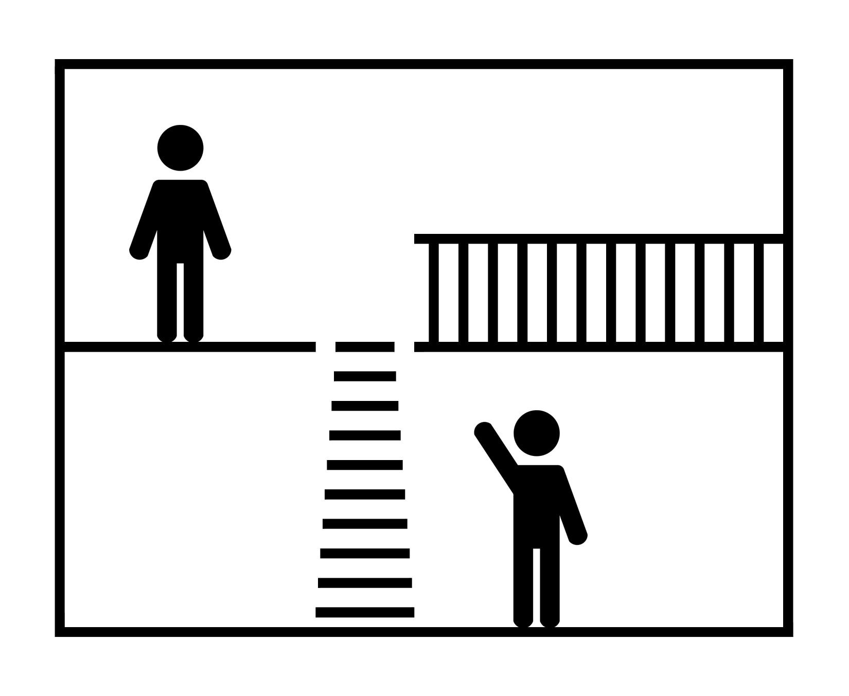 Einziehbare  Treppe für das Zwischengeschoss