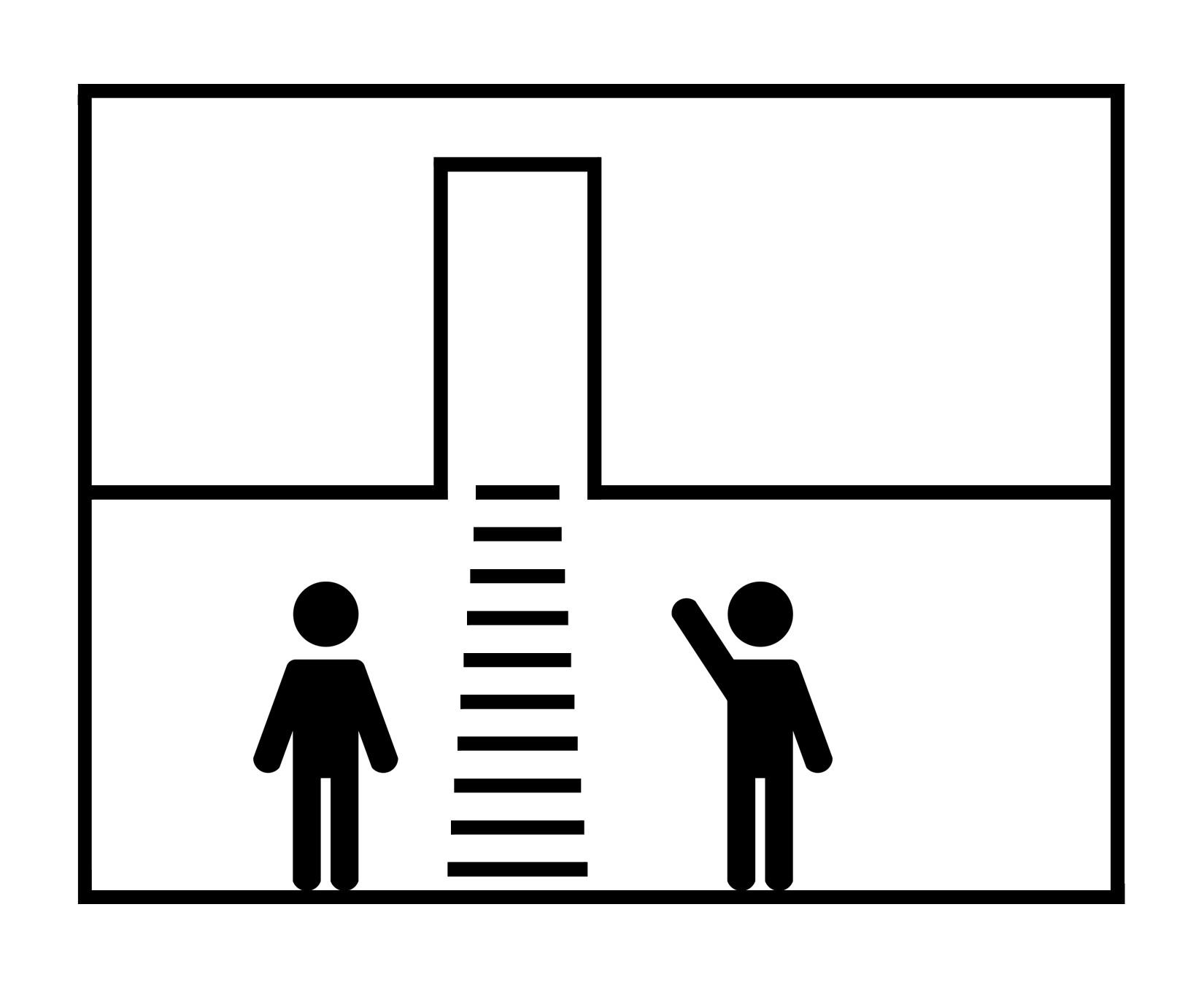 Einziehbare  Treppe für die Wand