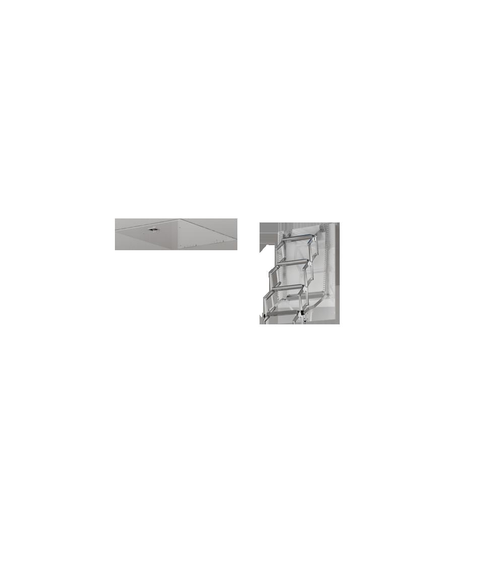 einziehbare terrassenleiter fgm scale. Black Bedroom Furniture Sets. Home Design Ideas
